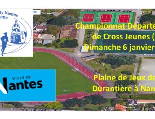 Inscriptions Championnat Départemental Cross Jeunes