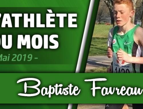 Athlète du mois de Mai 2019: Baptiste Favreau