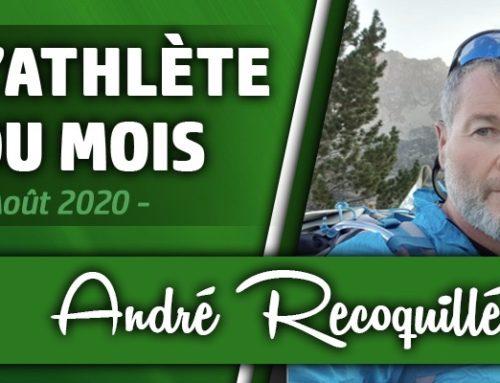 Athlète du mois d'Août : André Recoquillé