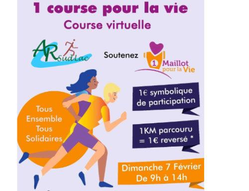 1 course pour la vie le 7 février 2021 de 9h à 14h